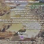 No mês de Omulú, vamos orar a ele pedindo pela saúde de todos nós!