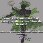 Vamos aprender sobre as características dos filhos de Ossaim!