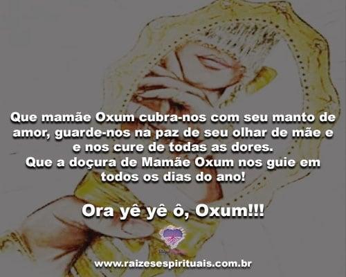 Mamãe Oxum Traz Das águas Do Rio Sua Mensagem De Paz