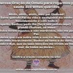 Poderosa Oração de Omulú para rogarmos pela saúde dos entes queridos