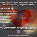 Oferenda aos Erês para obter melhorias em seu relacionamento, adoçar seu amor