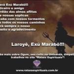 Saravá Exú Marabô!!! Justiceiro e amigo leal de seus protegidos!!!