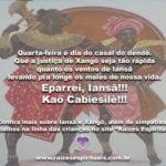 Quarta-feira é dia do casal do dendê!!! Eparrei, Iansã! Kaô Cabiesilê!!!