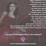 Dona Rosa Vermelha, com seu encanto e seu perfume, vem trazendo seu axé!