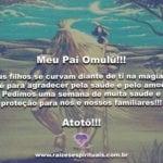 Atotô, meu Pai Omulú!!!  Seus filhos se curvam diante de ti!!!