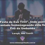 """""""Festa de Exú Tiriri"""", lindo ponto cantado homenageando este fiel Exú da Umbanda"""