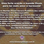 Uma forte oração a mamãe Oxum para ter mais amor e harmonia!