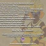 Ora Yê Yê Ô, Oxum! Salve Senhora do ouro! Benditas são suas águas…