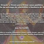 Oração a Oxum para firmar seus pedidos no dia de entrega de oferendas à Senhora do Ouro
