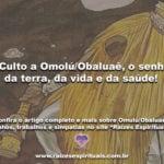 O Culto a Omolú/Obaluaê, o senhor da terra, da vida e da saúde!