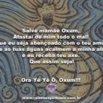 Salve mamãe Oxum,  Afastai de mim todo o mal!