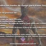 Confira um banho de Xangô para trazer força! Kaô Cabiesilê!!!