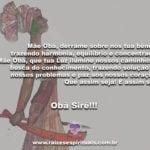 Mãe Obá, derrame sobre nós tua bênção… Obà Siré!!!