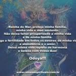 Rainha do Mar, proteja minha família, minha vida e meu sustento…