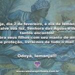 Hoje, dia 2 de fevereiro, é dia de Iemanjá! Salve sua luz, Senhora das Águas…