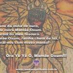Eu sou da mina de ouro, Onde mora Mamãe Oxum…