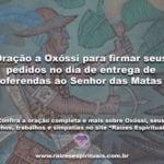 Oração a Oxóssi para firmar seus pedidos no dia de entrega de oferendas ao Senhor das Matas