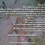 Eira e beira Um caboclo não é serafim. Salve as folhas brasileiras…