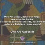 Meu Pai Oxóssi, Salve sua força, sua luz e sua flecha….