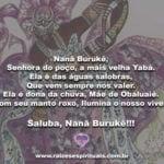 Nanã Burukê, Senhora do poço, a mais velha Yabá…