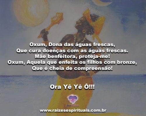 Oxum, Dona das águas frescas... Ora Yê Yê Ô!!!