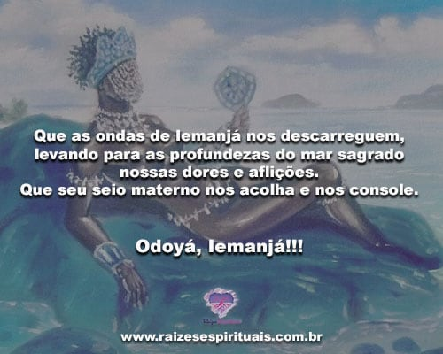 Que as ondas de Iemanjá nos descarreguem... Odoyá, Iemanjá!!!