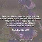 Senhora Nanã, mãe de misericórdia… Saluba, Nanã!!!