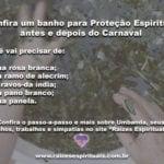 Confira um banho para Proteção Espiritual antes e depois do Carnaval