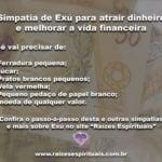 Simpatia de Exú para atrair dinheiro e melhorar a vida financeira