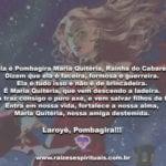 Ela é Pombagira Maria Quitéria, Rainha do Cabaré!