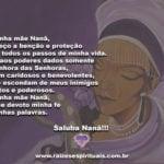 A minha mãe Nanã, eu peço a benção e proteção. Saluba Nanã!!!