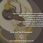 No céu, uma estrela vem brilhando. Ora Yê Yê Ô Oxum!!!