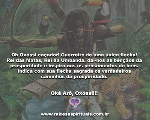 Oh Oxóssi caçador! Guerreiro de uma única flecha! Okê Arô, Oxóssi!!!