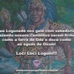 Que Logunedé nos guie com sabedoria… Loci Loci Logum!!!
