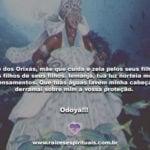 Mãe dos Orixás, mãe que cuida e zela pelos seus filhos. Odoyá!!!