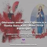 Oferenda anual aos Ciganos e a Santa Sara Kali – Maio 2018