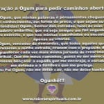 Oração a Ogum para pedir caminhos abertos em todos os setores da vida