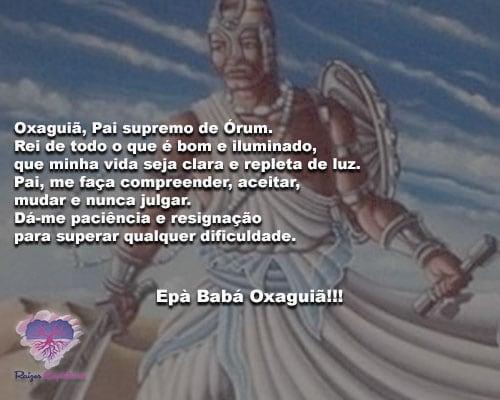 Oxaguiã, Pai supremo de Órum, Rei de todo o que é bom e iluminado!