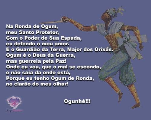 Na Ronda de Ogum, meu Santo Protetor... Ogunhê!!!