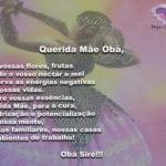 Que nossa querida Mãe Obá nos dê sua proteção e bênçãos!