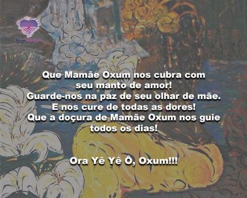 Que Mamãe Oxum nos cubra com seu manto de amor!