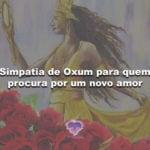 Simpatia de Oxum para quem procura por um novo amor