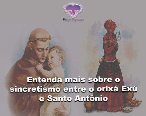 sincretismo entre o orixá Exú e Santo Antônio