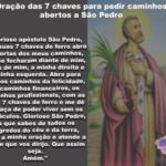 Oração das sete chaves para fazer no dia de São Pedro!