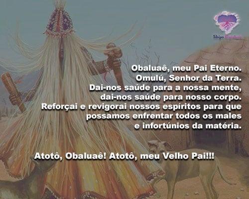 Obaluaê, meu Pai Eterno!Omulú, Senhor da Terra!