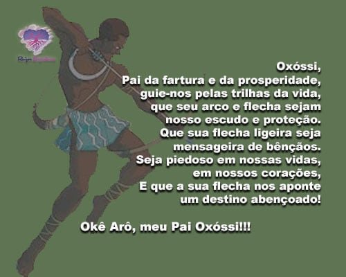 Oxóssi, Pai da fartura e da prosperidade, guie-nos pelas trilhas da vida...