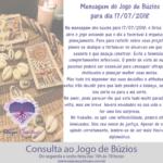 Mensagem dos búzios para 17/07/2018: o Orixá Tempo abre o jogo do dia