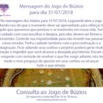 Mensagem dos búzios para 31/07/2018: Logunedé abre o jogo de hoje