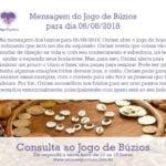 Mensagem dos búzios para 06/08/2018: Oxóssi abre o jogo de hoje