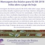 Mensagem dos búzios para 02-08-2018: Irôko abre o jogo de hoje